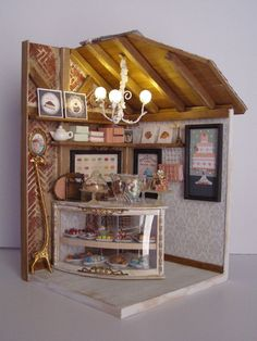 "Hand-made miniature Scene 1:12 scale "" Une Petite pâtisserie"" by Pequeneces on Etsy"