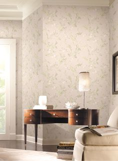 Pattern: :: Book: Heritage Home by Park Place Studio and York :: Wallpaper Wholesaler Modern Wallpaper, Designer Wallpaper, Cottage Wallpaper, Blinds For Windows, Fabric Design, Backdrops, Dining Table, Interior Design, Pattern