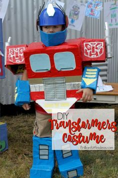 DIY Optimus Prime Transformer Costume & Easy DIY Kid Costume! Transformers Costumes are awesome but being ...