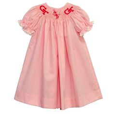 Beautiful Hand Smocked Pink #Georgia Tech Bishop Dress