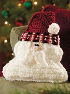 Crochet - Santa Pillow - #EC00941 e-pattern central