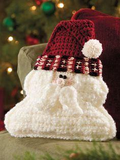 Crochet - Santa Pillow - #EC00941 e-pattern central