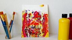 First swipe and a corrupted video - Acrylic Pouring