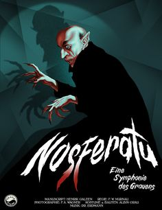"""""""You have hurt yourself. your precious blood!"""" Nosferatu fan poster is creeping Disney Movie Posters, Classic Movie Posters, Classic Horror Movies, Movie Poster Art, Fan Poster, Horror Vintage, Retro Horror, Horror Comics, Horror Art"""