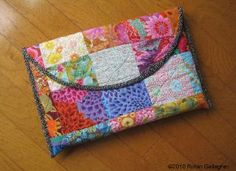 Laptop sleeve.  I love her tutorials.  Simple, easy, and beautiful results.
