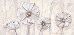 "Stretcher Frame ""Pearl Poppies"" Canvas Art | Wayfair UK"
