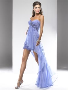 Strapless Sweetheart High-Low With Beadings and Pleatings Prom Dress PD1413 www.tidedresses.co.uk £156.0000