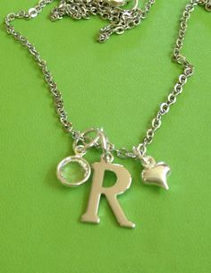 Silver Initial R Swarovski Crystal and Heart Necklace - Edit Listing - Etsy Cute Girl Hd Wallpaper, Name Wallpaper, Letter R Tattoo, R Letter Design, Large Wooden Letters, Stylish Alphabets, Blue Rings, Pandora Jewelry, Swarovski Crystals