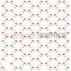Designpapier 'Weihnachtshund mit Mütze'