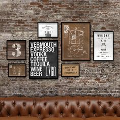 Coffee Tequila, Tequila Wine, Vintage Industrial, Ideas Para, Room, Home Decor, Industrial House, Wall Pictures, Modern Industrial