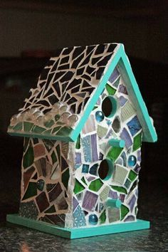 Mosaic Birdhouse More