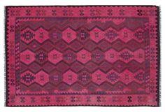 """6'5""""x9'8"""" Renata Flat-Weave Rug, Pink"""