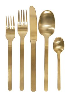 Domino Gold Cutlery Set by Canvas Home Store
