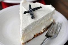 Gâteau au fromage à la vanille et au chocolat blanc (en anglais)