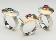 Tourmalines, silver, 18ct gold