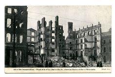 Postcard Lower Sackville Street - Digital Repository of Ireland Ireland 1916, Old Pictures, Dublin, New York Skyline, Digital, Street, Painting, Travel, Art