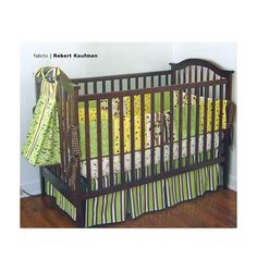 K3685, Crib Comforter, Skirt, Fitted Sheet, Bumper Pad & Diaper Stacker