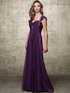 Incrível Vestidos princesa/Formato A Coração Longos Bordado De chiffon Vestidos