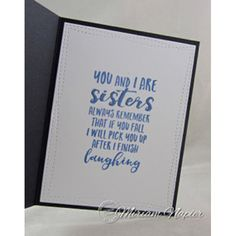 Serendipity Stamps Sisters Die and Cling Stamp Set