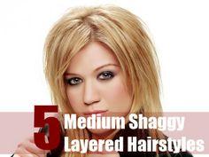 5 Medium Shaggy Layered Hairstyles