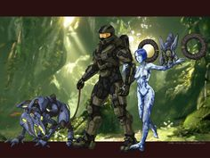 All characters: Photoshop & SAI Background: screenshot --------------------------------------- Halo (c) 343 Industries / Bungie --------------. An Ancient Evil Awakens. Master Chief And Cortana, Halo Master Chief, Halo 3 Odst, Halo Funny, Halo Cosplay, What A Nice Day, Halo Mega Bloks, Halo Armor, Halo Game
