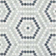 Hexagon Grey Polished Mosaic | Artistic Tile