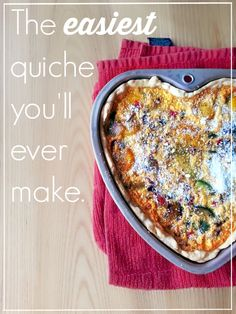 The Easiest Quiche You'll Ever #livingthesweetwife