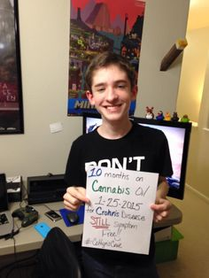 Coltyn has been on cannabis oil for 10 months for his Crohns Disease. And STILL symptom free!!
