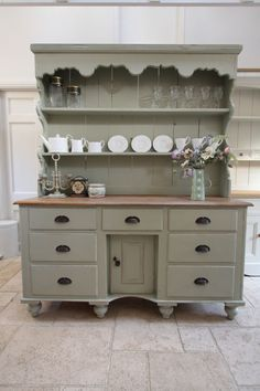 It might have been a dresser, but it's a gorgeous hutch now.  Saving for something to do with my current bedroom suit...