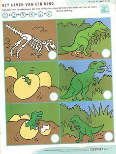 Logische volgorde Dinosaur Theme Preschool, Dinosaur Activities, Preschool Activities, Dinosaur Projects, Dinosaur Crafts, Dino Craft, Prehistoric Age, Dinosaur Birthday Party, Science And Nature