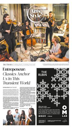 Entrepeneur: Classics Anchor Us in This Transient World|Epoch Times #Arts #ClassicalMusic #Groupmuse #newspaper #editorialdesign