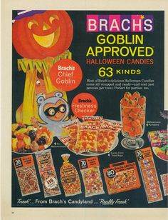 View from the Birdhouse: Happy Vintage Halloween!  1965 Brach's candy ad