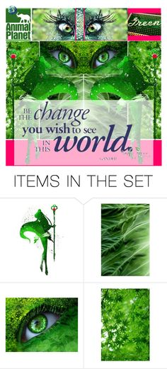 """Environmentalista! Fight climate change!"" by yours-styling-best-friend ❤ liked on Polyvore featuring art, GREEN, Gogreen and artset"
