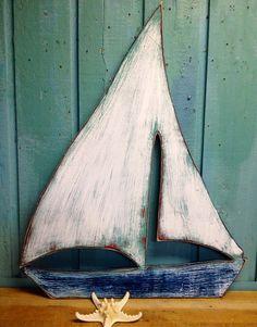 Segelboot segeln Schiff Boot Zeichen Wand Art Strand Haus