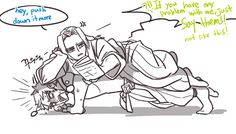 Poor genji, being tortured by lazy hanzo.  At least its effective