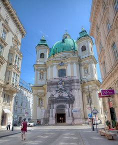 Peter's Church), Vienna, Austria Love it! Places Around The World, Travel Around The World, Around The Worlds, Places To Travel, Places To Visit, Austria Travel, Travel Europe, Cathedral Church, Temples