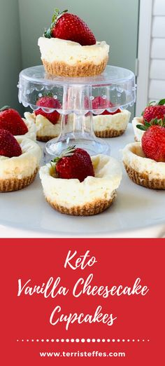 Individual cheesecakes to aid in portion control and to enjoy a delicious, keto friendly dessert. #ketocheesecakewithcrust #ketocheesecake #ketodesserts