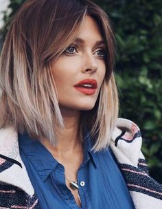 Unique hairstyles for thin fine hair - Hair and beauty - Frisuren Thin Hair Cuts, Style Thin Hair, Cuts For Thinning Hair, Style A Bob, Medium Hair Styles, Long Hair Styles, Should Length Hair Styles, Short Styles, Cut Her Hair