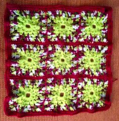 Lots of Crochet Stitches by M. J. Joachim: Afghan Project Pattern #112114 - Joining 3rd Strip...