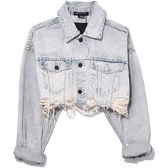 Alexander Wang Vintage Bleach Blaze Crop Jacket ($395) ❤ liked on Polyvore featuring outerwear, jackets, vintage bleach, alexander wang, distressed jacket, bleach jacket, cropped jacket and alexander wang jacket