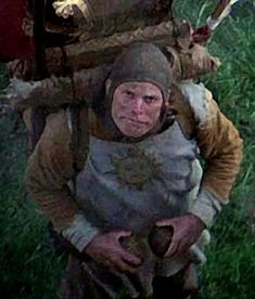 Monty Python and the Holy Grail's Patsy is a cameo by the director Terry Gilliam. Cardboard Model, Spanish Inquisition, Terry Gilliam, Horse Galloping, Colt 45, British Humor, Monty Python, Fantasy World, Filmmaking