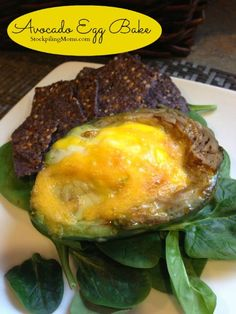Avocado Egg Bake is one of my favorite paleo breakfasts!  Also gluten free!