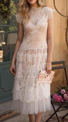 I love this style: delicate, pale, detailed and sheer.