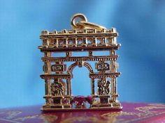 Antique French Arc de Triomphe 18kt Gold Charm Necklace | eBay