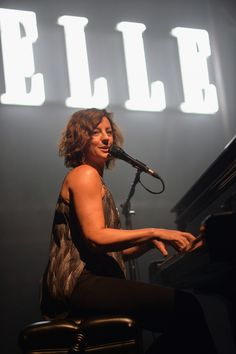 GRAMMY winner Sarah McLachlin shines in the afterglow during a performance at the 5th Annual Elle Women in Music Celebration on April 22 in Hollywood