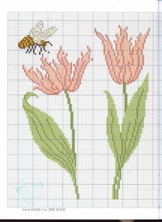 Flowers 3 of 4 Cross Stitch Tree, Cross Stitch Needles, Cross Stitch Heart, Beaded Cross Stitch, Cross Stitch Animals, Cross Stitch Flowers, Cross Stitch Embroidery, Embroidery Patterns, Cross Stitch Designs