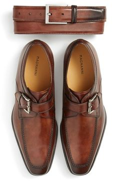 Magnanni Belt & Monk Strap Slip-On (Men) available at #Nordstrom