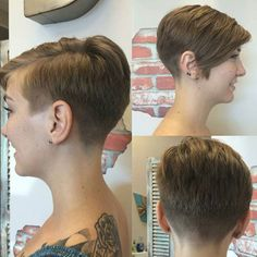 Left and back are ideal proper pixie material… Right side not so much, but easily perfected!