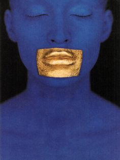 A reminder of the power of colour (if one were needed) and a homage to Yves Klein - 'Blue Klein', Vogue Paris, photography Eric Traoré, make-up Topolino Paris Photography, Makeup Photography, Editorial Photography, Fashion Photography, Dirty Dancing, Vogue Paris, Jm Basquiat, Art Bleu, Yves Klein Blue