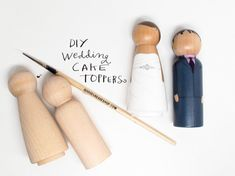 The Original DIY Wedding Cake Topper Kit with Extra Couple - Do-It-Yourself - Wooden Dolls - Request Colors at Checkout Diy Wedding Cake Topper, Diy Cake Topper, Personalized Wedding Cake Toppers, Wedding Cakes, Wedding Groom, Wedding Tips, Our Wedding, Wedding Planning, Bride Groom